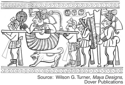 Illustration of ancient Mayan art