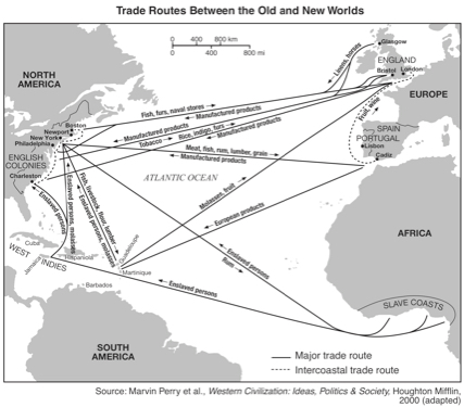 Atlantic Ocean trade routes